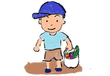 子供野菜もらう1