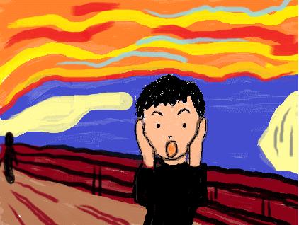ムンクの叫び風