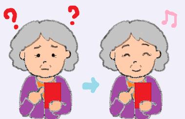 おばあちゃんスマホ