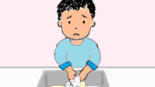 ひとり食器手洗い