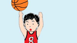 スポッチャでバスケ